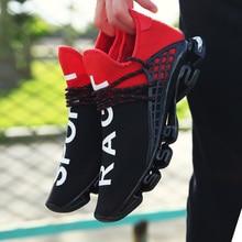 Элитный бренд Мужская обувь повседневная обувь модные спортивные беговые кроссовки дышащие черные туфли Белый Любителя черный Рогатка
