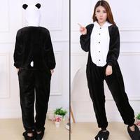 2016 Wholesale Unicorn Stitch Panda Unisex Flannel Hoodie Pajamas Costume Cosplay Animal Onesies Sleepwear For Men