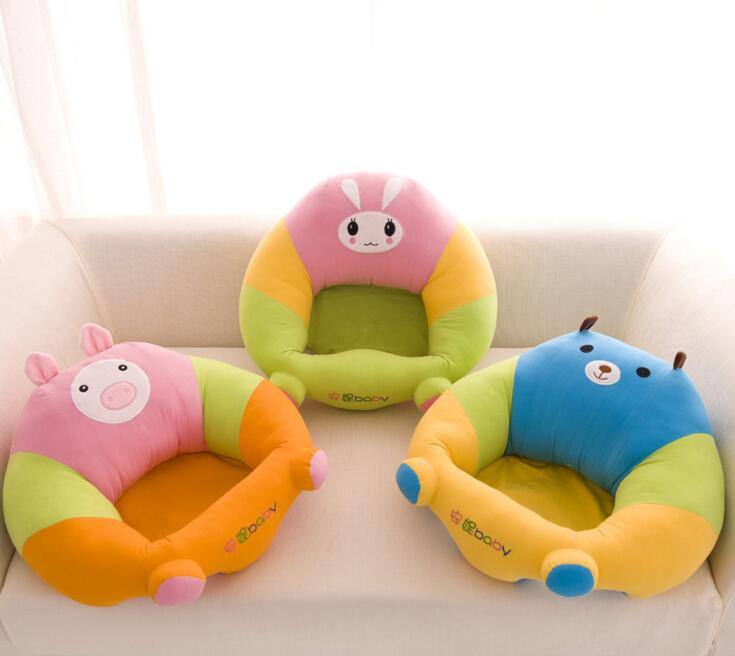 New 40*45*13cm Plush Soft Baby Care Sofa Infant Learning To Sit Chair Keep Sitting Posture Comfortable For 0-3 Months Baby