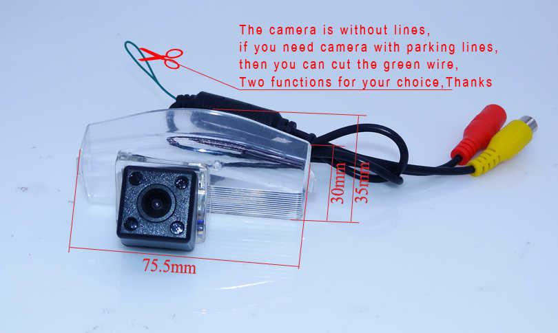 車のバックミラーカメラ4 irガラスレンズ材料170角度+黒ワイドスクリーン車反転モニターフィット用マツダ2マツダ用3