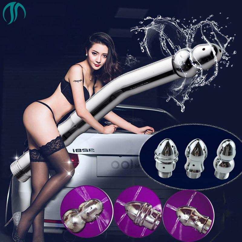 купить 3 Heads Enema Nozzle Shower Vaginal Anal Cleaner Enema Douche for Male Female Apply Portable Shattaf Travel Toilet Bidet Faucet недорого