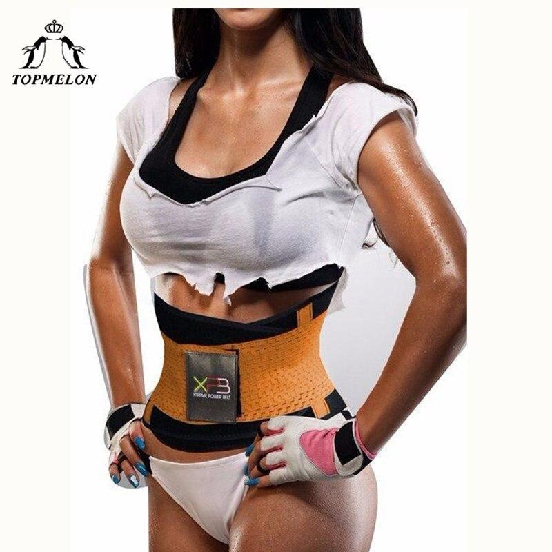 TOPMELON Waist Trainer Modeling Strap Belly Slimming Belt Sheath Slim Shapewear Neoprene Underbust Corset Sweat Body Shaper