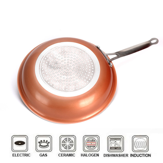 Non-Stick Copper Styled Wok with Ceramic Coating