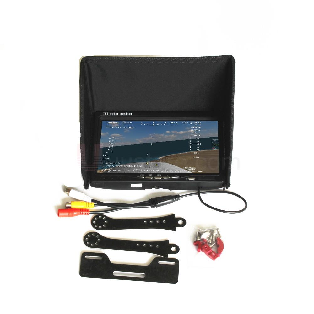 RC FPV Monitor NO blue 7 LCD Color 1024x600 Video Screen 7 inch Sun hood for RC Multicopter Quadcopter Ground Station QAV250 aputure vs 5 7 inch sdi hdmi camera field monitor with battery sun hood 11 magic arm rgb waveform vectorscope histogram zebra