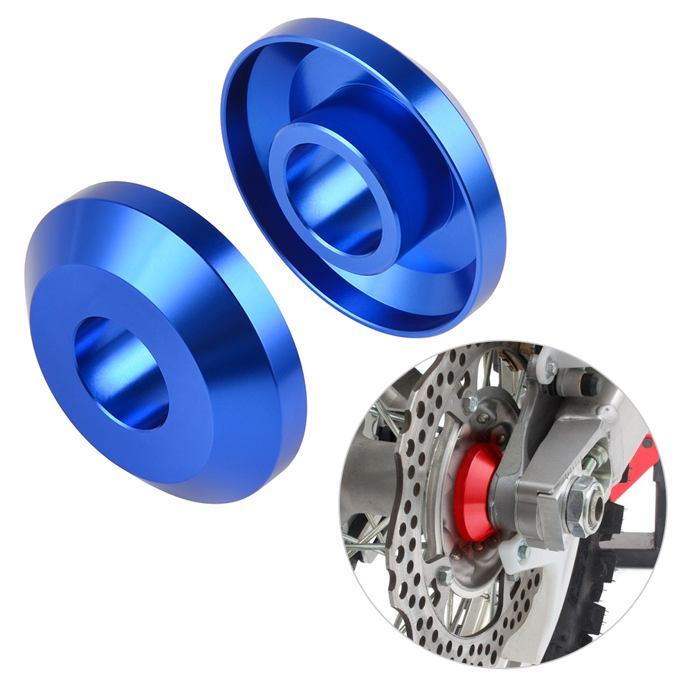 Anodized Blue Front Wheel Spacers for Yamaha YZ 12 250 YZ250F YZ450 2008 /& Up