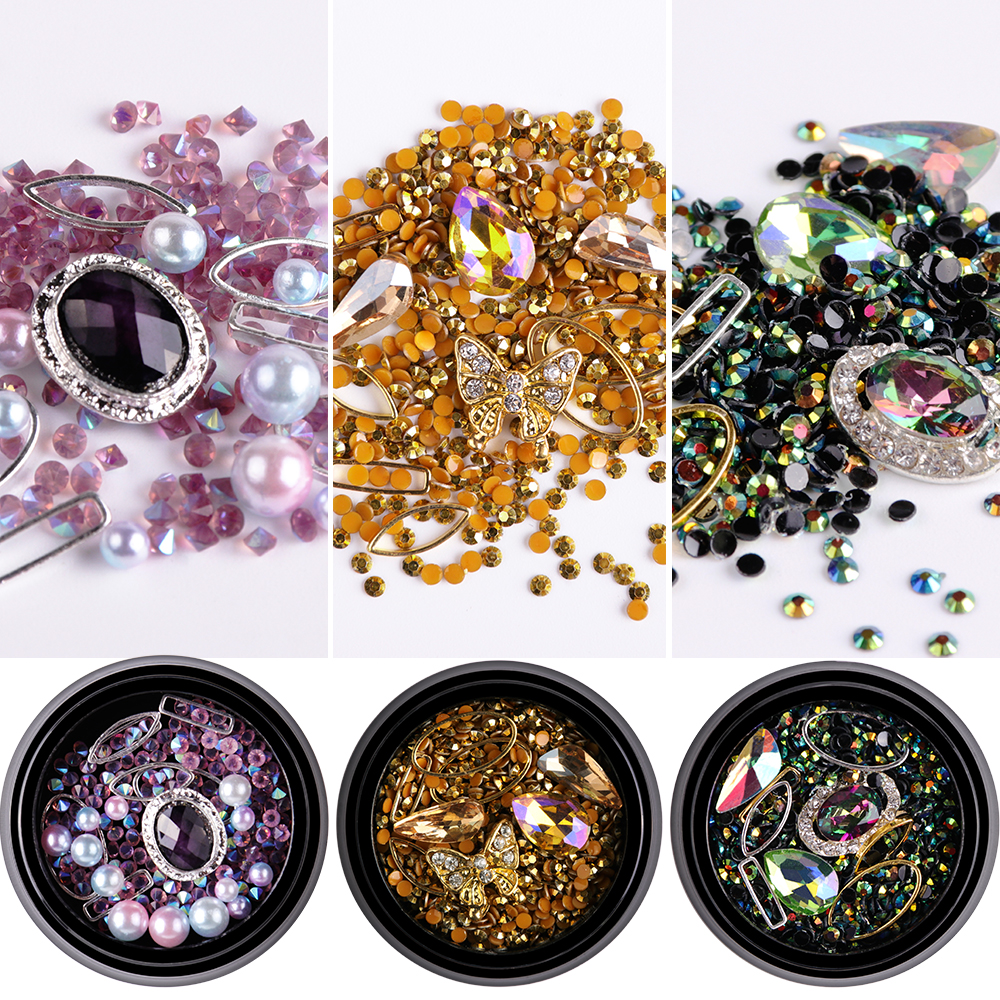 10*Pearl Flower Rhinestones Buttons Wedding Decoration Alloy Bow Accessories NE8