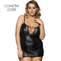 R70030 Top Selling Sexy Lingerie Hot See Through Fuax Leather Sexy Lingerie Women Black Sexy And