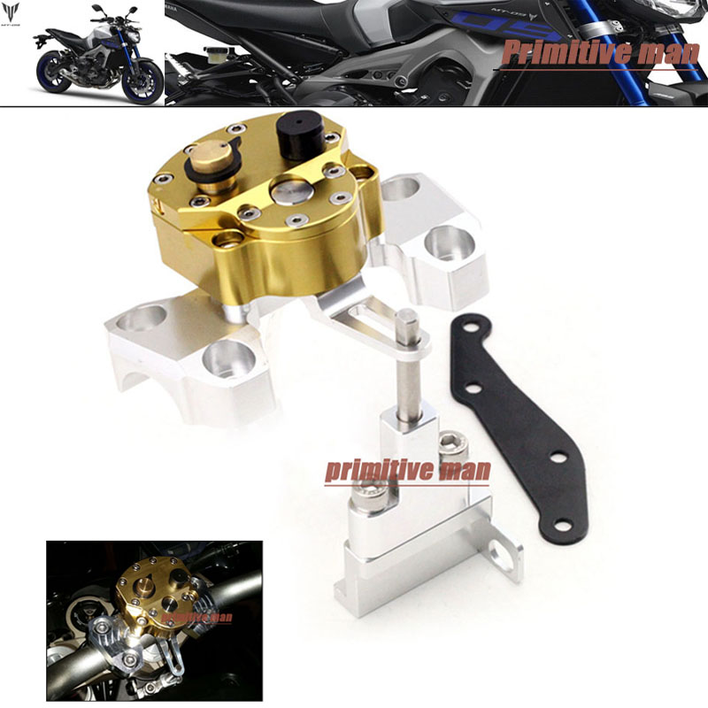 For YAMAHA MT-09 MT09 FZ-09 2014-2016 Motorcycle Steering Damper Stabilizer with Mounting Bracket Kit