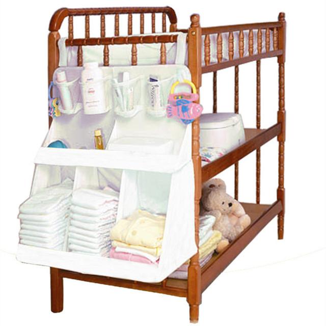 Bolsa de pañales organizador colgando cama de bebé juego de cama de almacenamiento portátil 63*48 cm estilo multy accesorios resistentes al agua