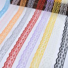 Wholesale 10yards/Lot lace ribbon for Sewing 22mm width african  white fabric cotton trim DIY Embroidery Dress Accessories
