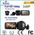 24MP full hd 1080 p cámara de vídeo digital de 10X zoom óptico de control remoto HDV-Z80 profesional cámara de vídeo