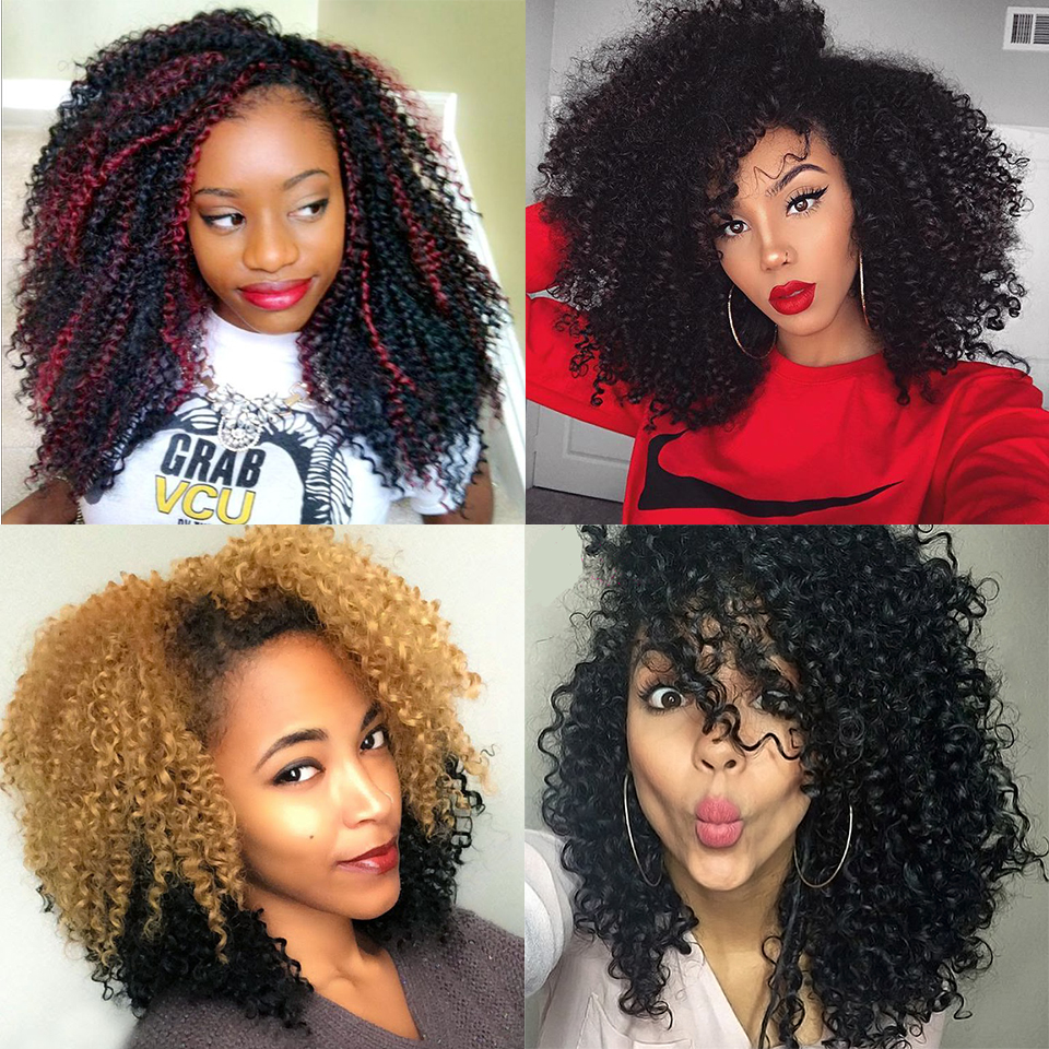 3 pcs lot boucl s crochet cheveux 8 39 39 freetress afro cr pus boucl s crochet tresses extensions. Black Bedroom Furniture Sets. Home Design Ideas