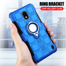 Cover For Nokia 2 8 Silicone Shockproof Phone Case Luxury Armor Anti-Fall Back Ring Stand