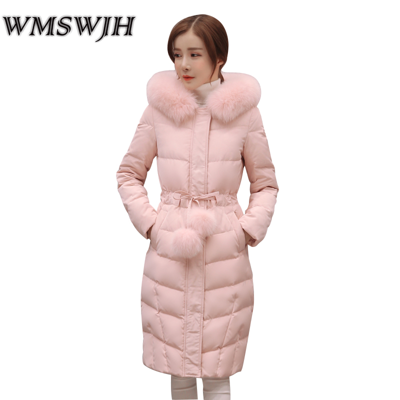 Fashion Winter Jacket Women Fur Collar Hooded Coat Thick Warm Female Jacket Cotton Coat Parkas Long jaqueta feminina inverno qazxsw 2017 new winter cotton coat women padded jacket hooded long parkas for girl thick warm winter coat jaqueta feminina hb274