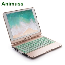 ANIMUSS Hot sell tablet wireless keyboard case new saving with bluetooth for ipad