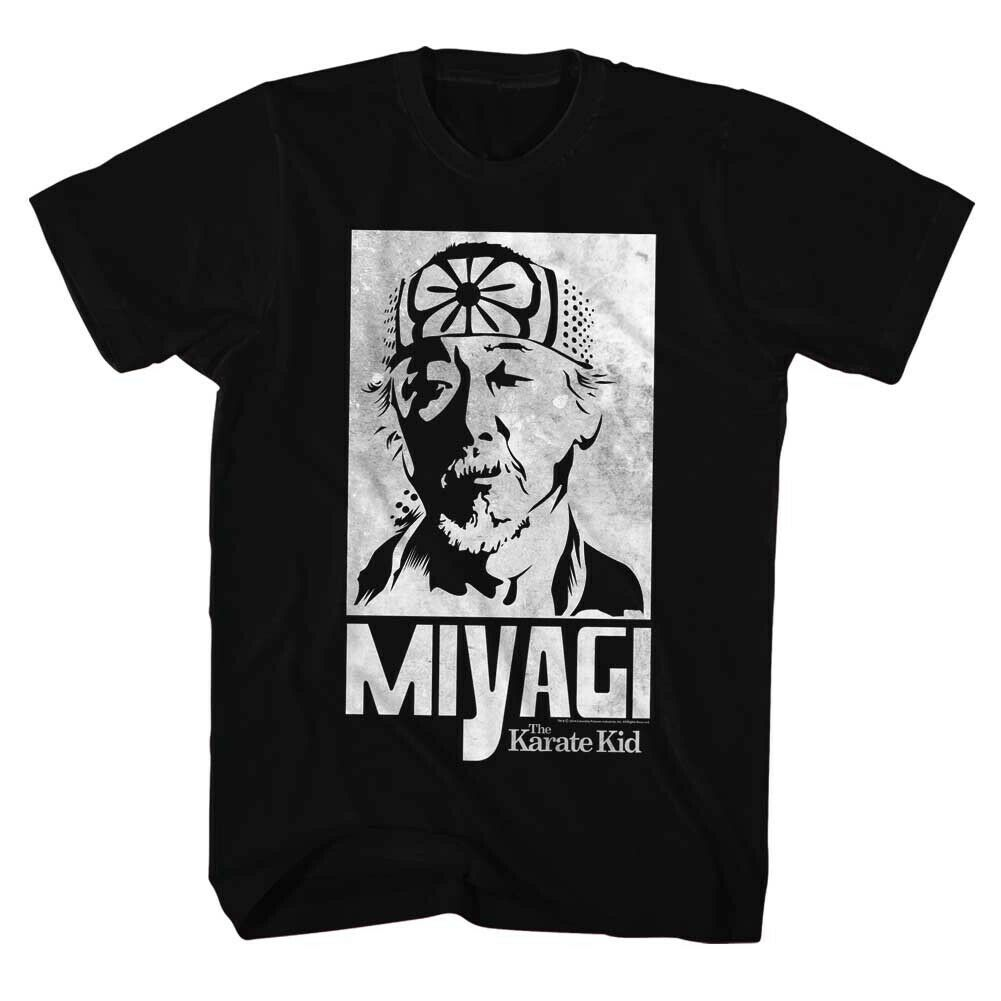 Karate Kid Movie Miyagi Licensed Adult T Shirt image