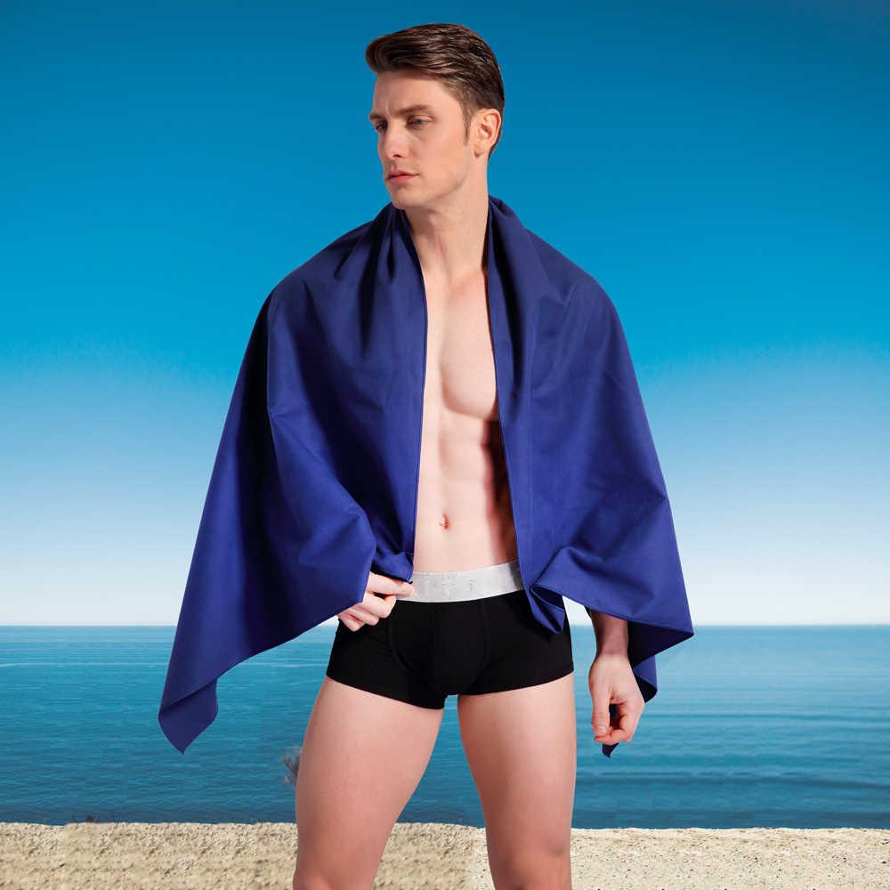 Zipsoft ręcznik plażowy tkanina podróżna z mikrofibry szybkoschnący na zewnątrz sport pływanie Camping kąpiel joga mata koc siłownia dorośli 2019
