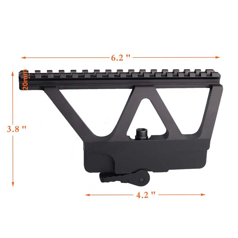Genteel Quick Detach Ak 47 Ak 74 Gun Rail Scope Mount Base Picatinny Side Rail Mounting For Hunting Rifle Scope Accessories 2-0005 Hunting