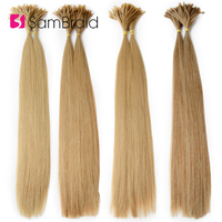 Sambraid Synthetic Hair 22Inch clips Long Straight Braiding Hair Pre Bonded 100pcs/pack Made Remy Pre Crochet Hair Extension