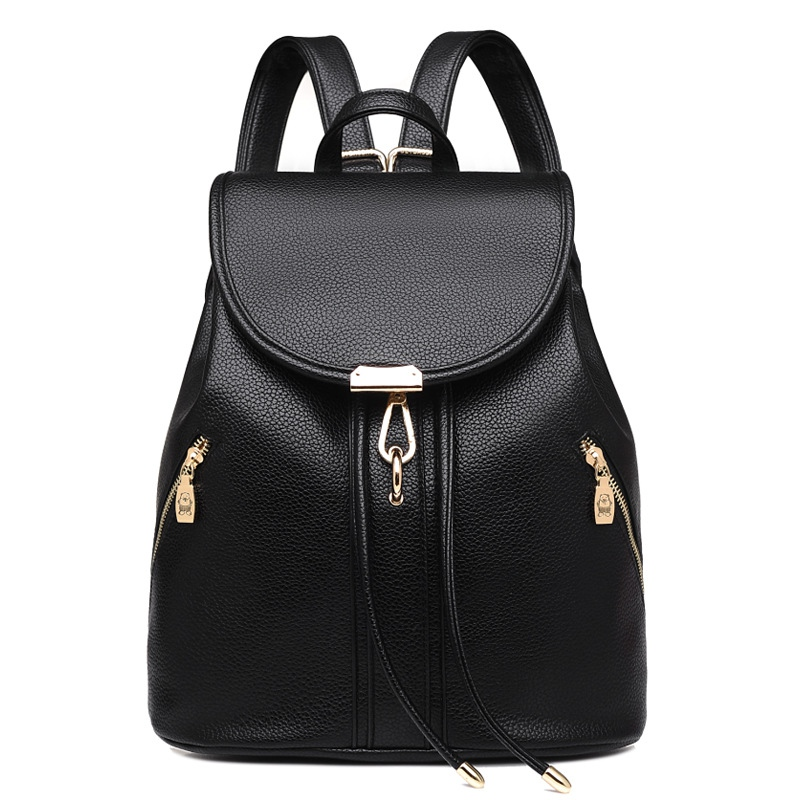 Women Backpack High Quality PU Leather Mochila Feminina Preppy School Bag For Teenager Girls Rucksack Travel Top-handle Backpack drawstring pu leather backpack small school women bag top handle lock girl backpack new arrivals herald fashion mochila feminina