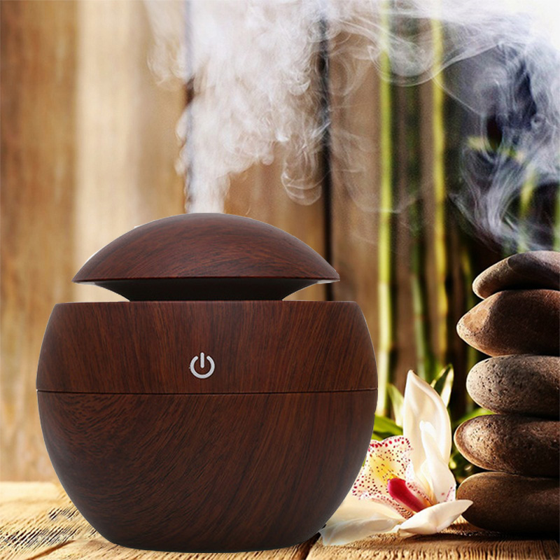 Home USB Aroma Essential Oil Diffuser Ultrasonic Humidifier Air Mini Purifier 7 Color Change LED Night Light For Office Home