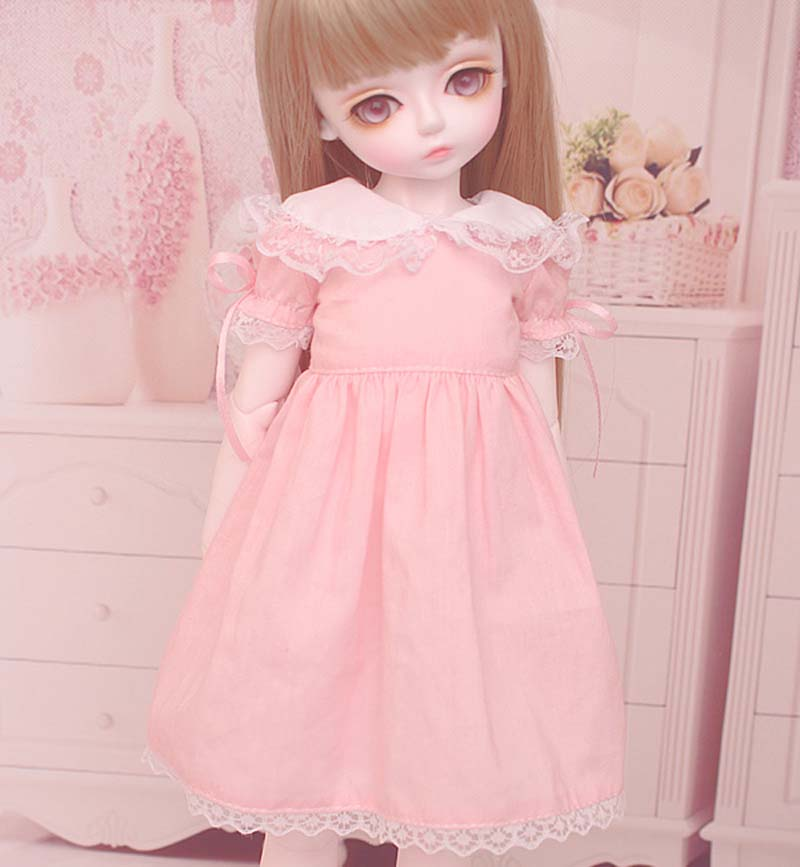 1/3 1/4 1/6 BJD Doll BJD/SD Fashion Clothes Pink Lovely Dress For Baby Girl Accessories 1 3 bjd clothes luts dod as dz sd baby clothes 1 3 1 4 bjd pants