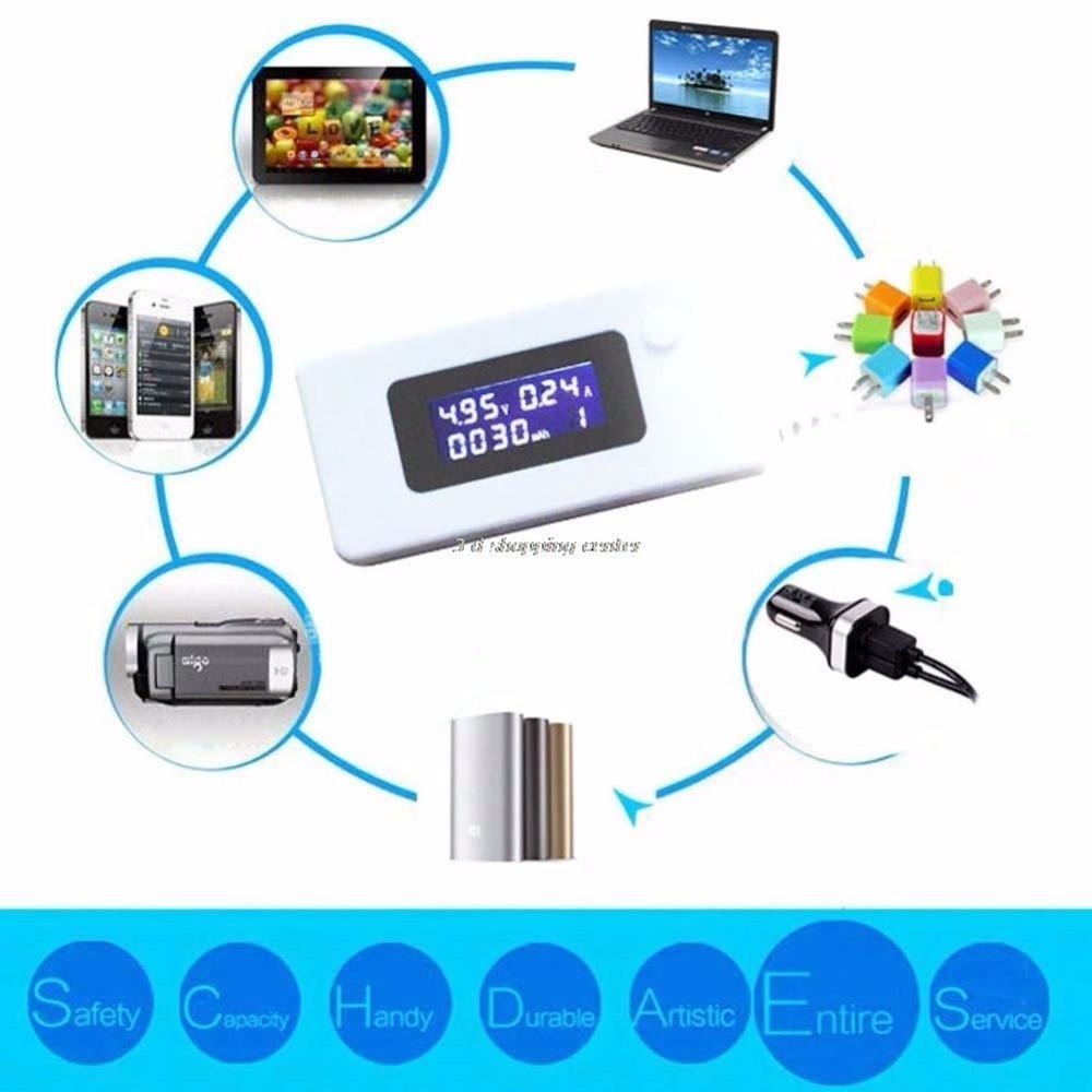 Saabumise LCD-mikro-USB-laadija aku mahtuvus pinge voolutestija - Mõõtevahendid - Foto 4