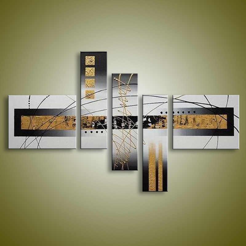جدار ديكور النفط اللوحة الحديثة النفط الطلاء على قماش مجردة اللوحة أسود أبيض البوب الفن رخيصة اللوحات الحديثة XD5-206