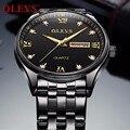 Relogio Masculino Schwarz Männer Uhr OLEVS Top Marke Luxus Mode Quarz Uhr herren Business Wasserdichte Military Sport Uhren
