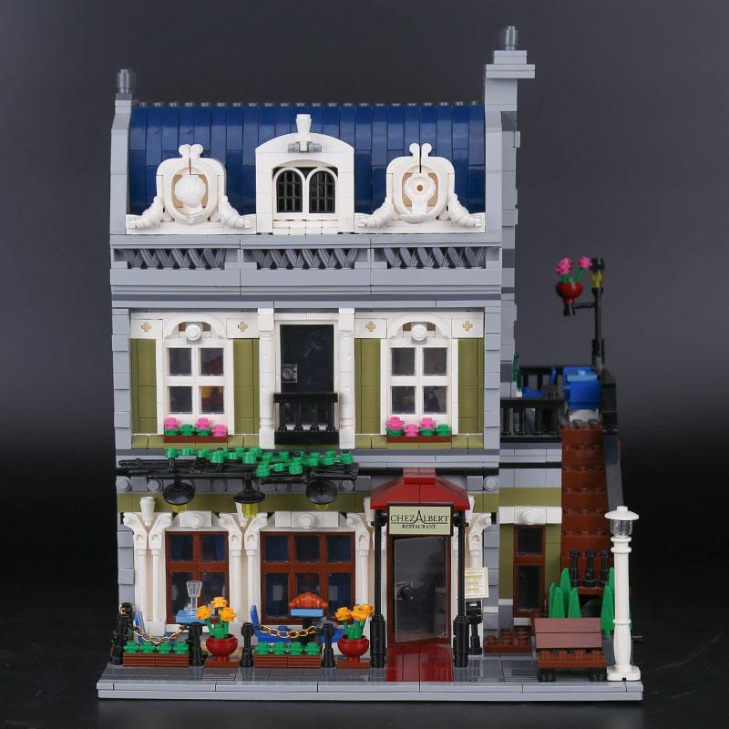 Creator Pariser Restaurant Straße Stadt Modulare Haus Modell Bausteine 15010 Montieren Spielzeug Kompatibel Mit 10243-in Sperren aus Spielzeug und Hobbys bei  Gruppe 1
