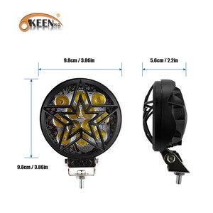Image 3 - OKEEN 12V Car LED Work Light Bar 28W Motorcycle Bike Fog DRL Headlight 3200Lm High Low Beam Spotlight 6500K White Headlamp 24V