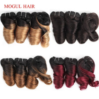 MOGUL HAIR Romance Curl 1 Set for Full Head Short Bob Style Ombre Remy Human Hair Natural Color 155g/set Brazilian Loose Wave