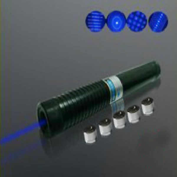 445-450nm Zooming LED Blue Laser Pointer + Protective Glasses (2x16340)