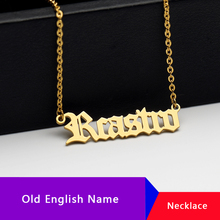 Personalized Old English Custom Name Necklace BFF Necklaces Pendants Stainless Steel Choker Jewelry