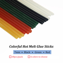 Multiple Colors Colorful Hot Melt Glue Sticks 7mm 7x150mm 7x300mm White Black Green Yellow Red,sticks for needlew 10pcs/lot