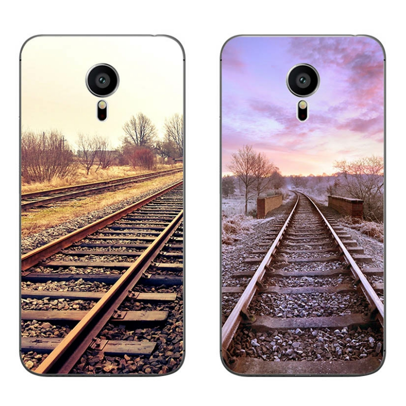 For Meizu MX4 MX5 MX6 Pro 5 6 Phone Case M1 M2 M3 Note MEILAN E Mini Shell Transparent Cover Soft Silicon Railway Pattern Skin