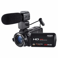 Ordro Camcorder Full HD 1080P 30FPS Handheld Digital Video Camera with Wifi External Rechargeable Microphone (HDV-Z20)