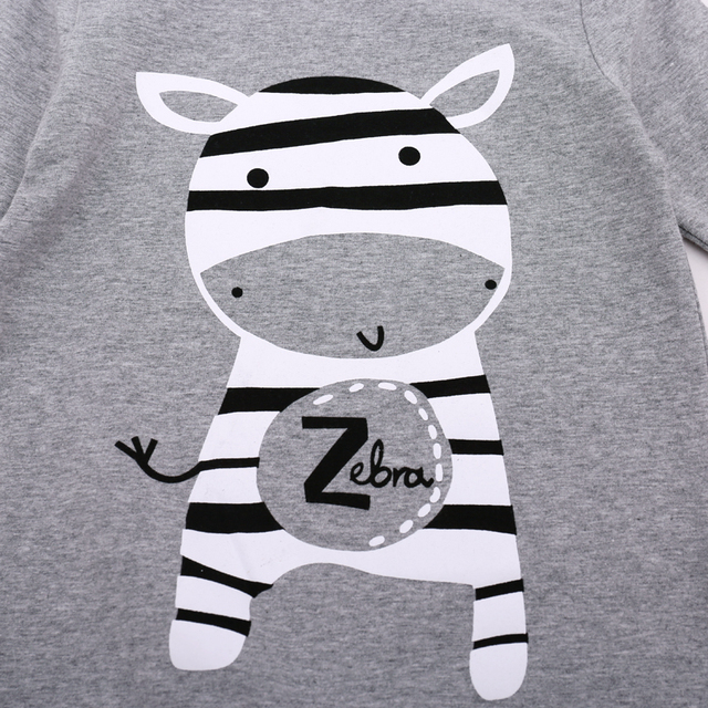 Cute Zebra Printed Cotton Rompers