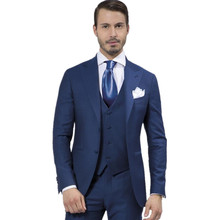 New Custom Made Men Suit Fashion Designer Blue suits Tuxedo Dinner Suit wedding suits for men (Jacket+Pants+Tie+Vest)