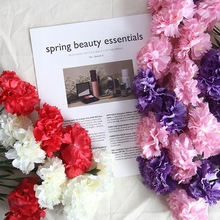 10 pcs Wedding Artificial Flowers Silk Carnation Stamen Carnation Silk Flower Carnation Artificial Flowers Fake Carnation Flower artificial bouquet of 5pcs carnation