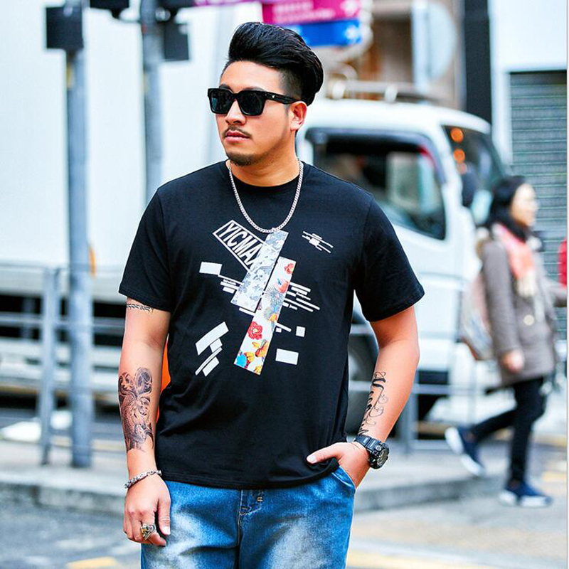 a583c9c51fd 2019 Oversize Large Size Men s Short Sleeves Printed T Shirts Male Fat Guy  Summer Big and Tall Mens Tee Clothes Plus XL 6XL 37-in T-Shirts from Men s .