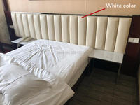 1BOX include 12pieces 100x25cm Europe Style white Leather Panel Bed backgroumd luxury decorative acoustic panel wall sticker