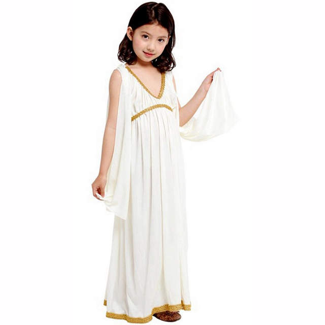 8db3a649c12a Children white Athena princess dress Africa Egyptian Ancient Egypt  Cleopatra princess costume Halloween costume Cosplay girl