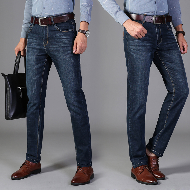 2020 Vomint New Men's Fashion Jeans Business Casual Stretch Slim Jeans Classic Trousers Denim Pants Male 008