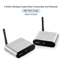 2.4GHz Wireless AV VCD TV Broadcasting Audio Video Sender Transmitter and TV Signal Receiver with IR Remote Control 200 Metres