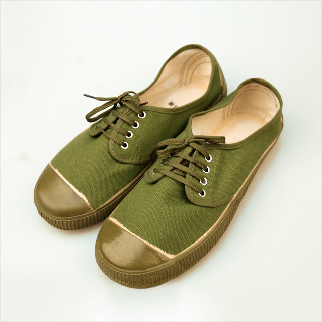 286e6a09ccf39 2015 New Autumn US Europe China Brand Jiefang Xie Canvas Shoes Army Military  Flat Comfort Men Outdoor Casual Green Camo Shoes
