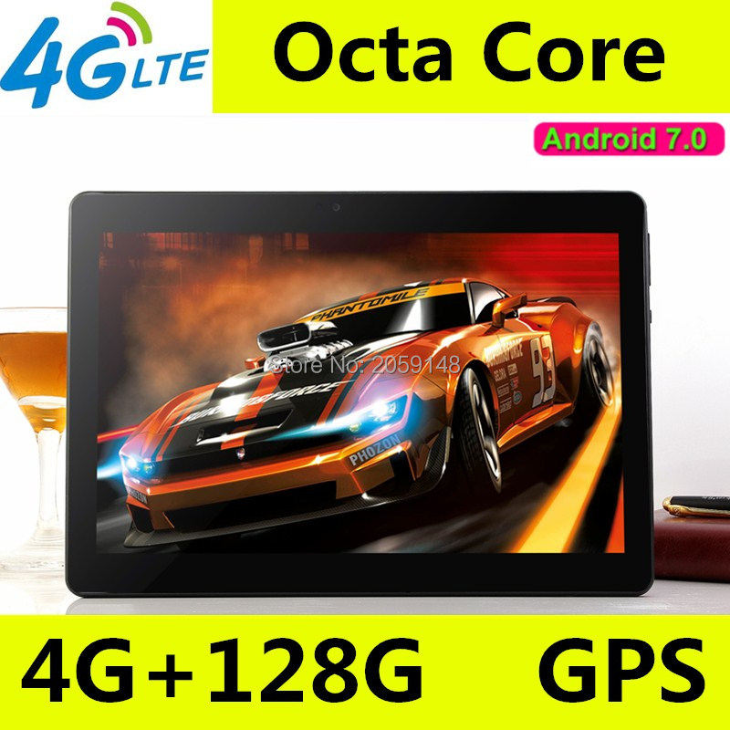 4G LTE Android 7.0 Tablet PC 1920x1200 Tab 10.1 Inch IPS Octa Core 4GB + 128GB ROM Dual SIM Card Phone Call 10.1