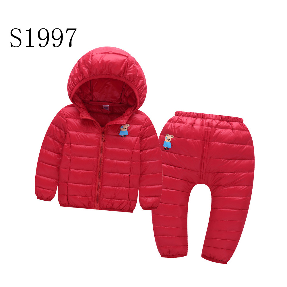 Toddler Boy Clothes Set 2017 New Brand Kids Winter Jacket Set Girls Warm Outwear Parkas Coat Cute Pig High Quality 2-6 Years