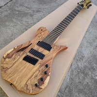 Forestwind guitar 8 Strings scalloped Scale. Bass Guitar,Rosewood Fingerboard,no Frets Inlay,Offer Customized