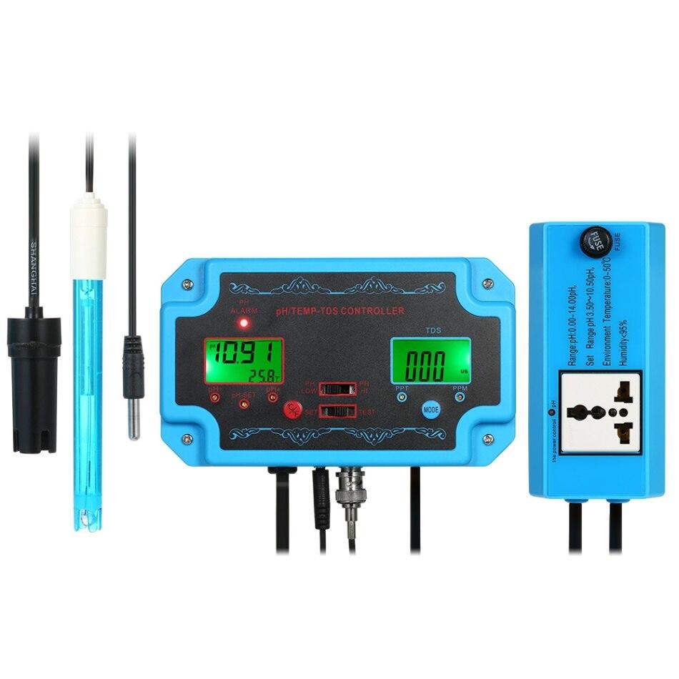 Professionnel 3 en 1 pH TEMP Mètre Détecteur D/'eau Water Quality Tester CE